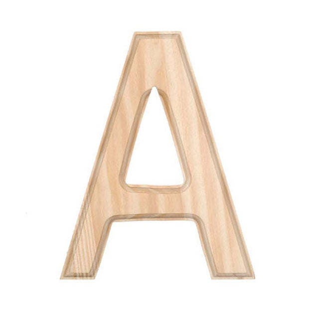 Unfinished Unpainted Wooden Letter A (6 Inches) by BestPysanky