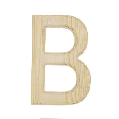 Unfinished Unpainted Wooden Letter B (6 Inches) by BestPysanky