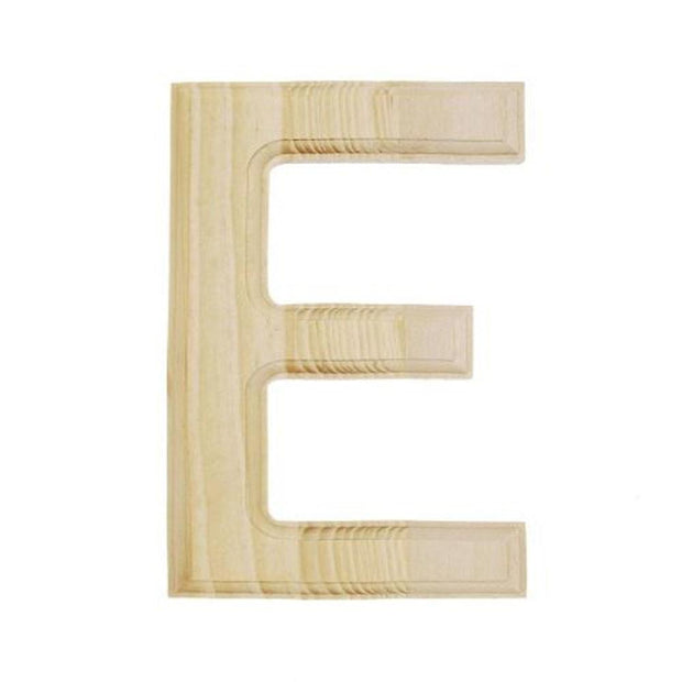 Unfinished Unpainted Wooden Letter E (6 Inches) by BestPysanky