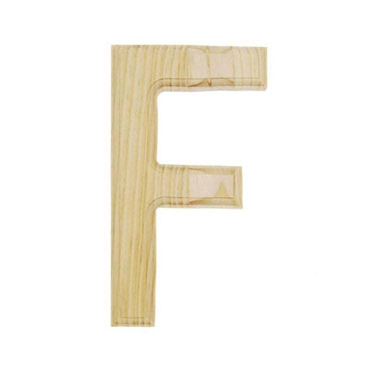 Unfinished Unpainted Wooden Letter F (6 Inches) by BestPysanky