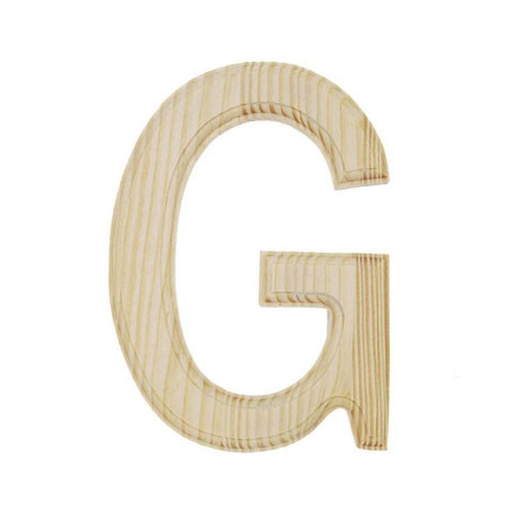 Unfinished Unpainted Wooden Letter G (6 Inches) by BestPysanky