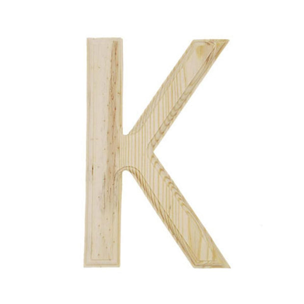 Unfinished Unpainted Wooden Letter K (6 Inches) by BestPysanky