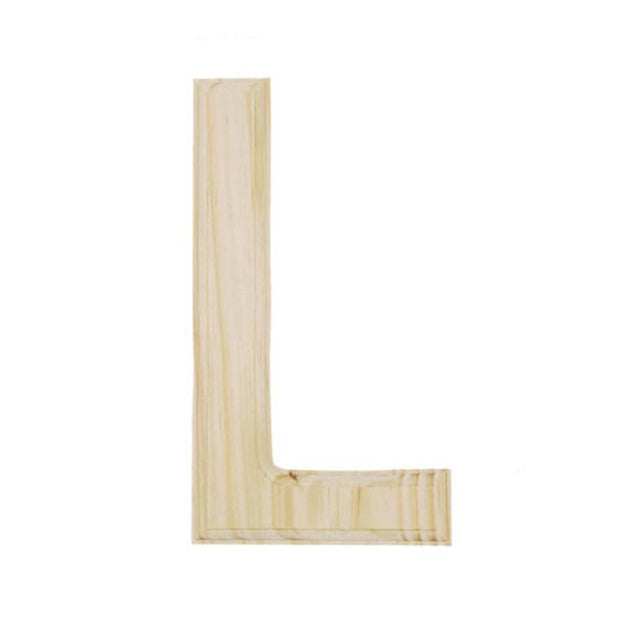 Unfinished Unpainted Wooden Letter L (6 Inches) by BestPysanky