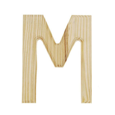 Unfinished Unpainted Wooden Letter M (6 Inches) by BestPysanky