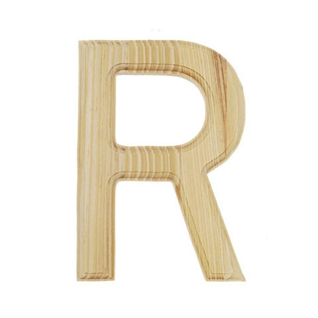 Unfinished Unpainted Wooden Letter R (6 Inches) by BestPysanky