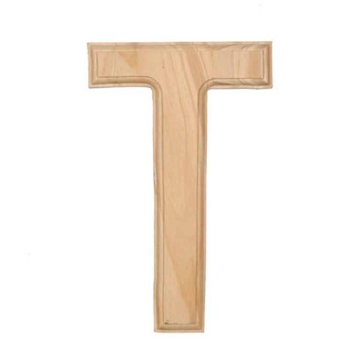 Unfinished Unpainted Wooden Letter T (6 Inches) by BestPysanky