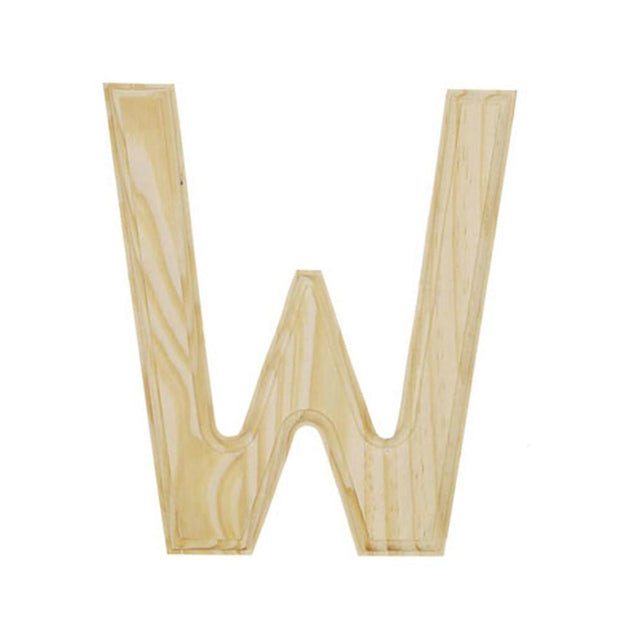 Unfinished Wooden Letter W 6 Inches by BestPysanky