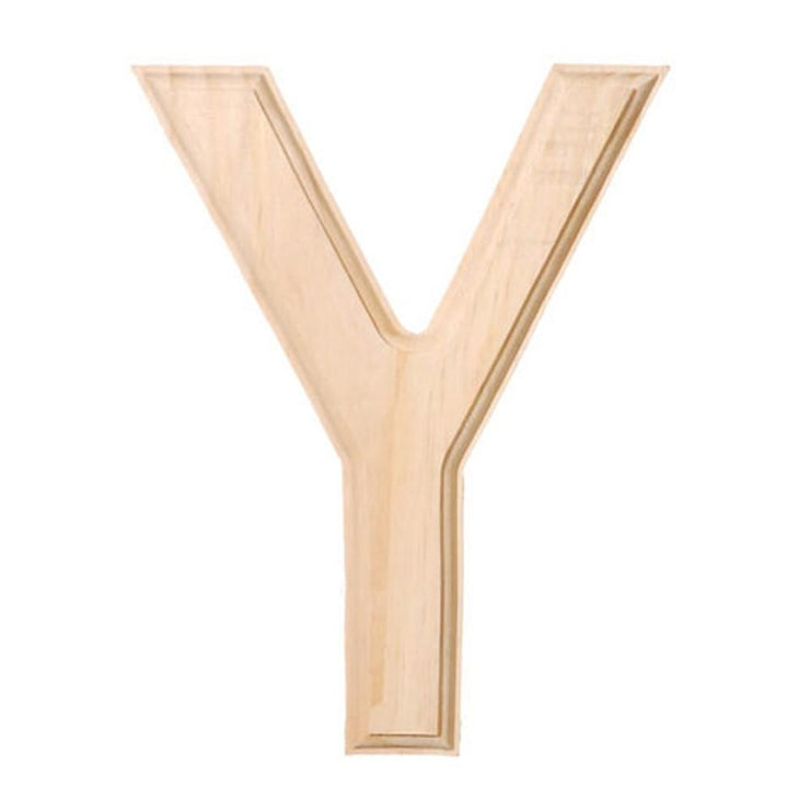 Unfinished Unpainted Wooden Letter Y (6 Inches) by BestPysanky