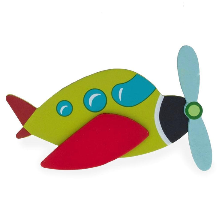Painted Finished Wooden Airplane Shape Cutout DIY Craft 4.75 Inches by BestPysanky
