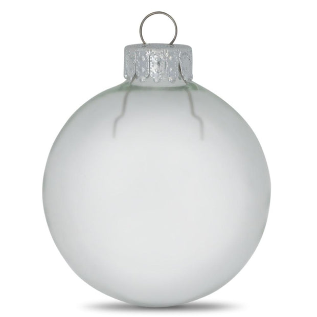 Set of 10 Clear Glass Ball Christmas Ornaments 2 Inches