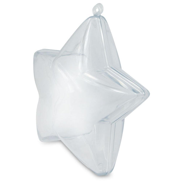 Set of 3 Fillable Clear Plastic Star Christmas Ornaments 3.5 Inches