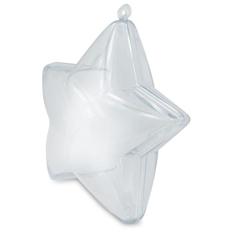 Buy Online Gift Shop Set of 3 Openable Fillable Clear Plastic Star Christmas Ornaments DIY Craft 3.5 Inches