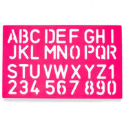 Buy Online Gift Shop Set of 4 Stencil Templates with Letters and Numbers 9.75 Inches