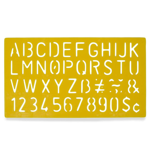 Set of 4 Stencil Templates with Letters and Numbers 9.75 Inches