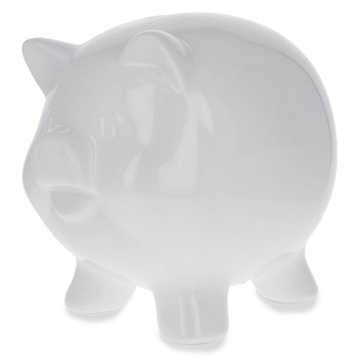 Unpainted White Ceramic Piggy Bank DIY Craft 5.75 Inches by BestPysanky