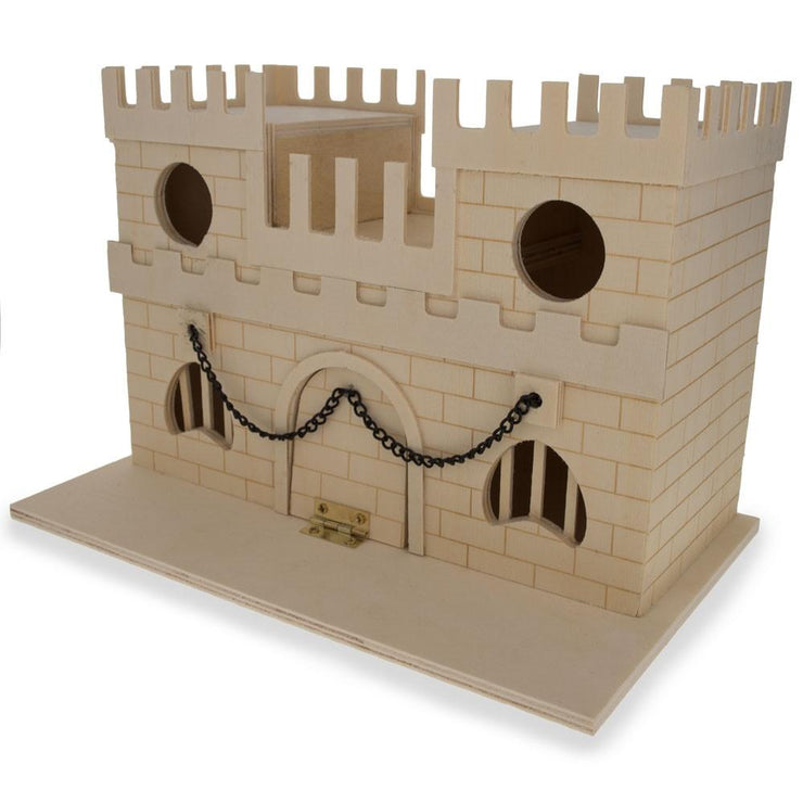 Blank Unfinished Wooden Birdhouse Castle DIY Craft 6.5 Inches by BestPysanky