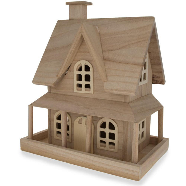 Blank Unfinished Wooden House 9.25 Inches by BestPysanky