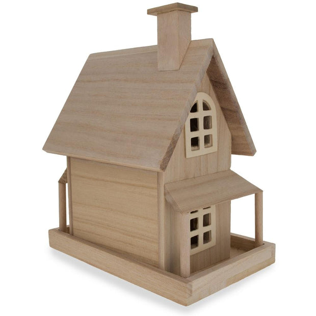 Blank Unfinished Wooden House 9.25 Inches