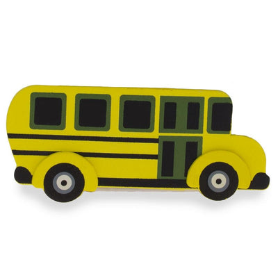 Painted Finished Wooden School Bus Craft Cutout 4.75 Inches by BestPysanky