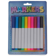 Set of 10 Non-Toxic Markers for Ceramics & Glass by BestPysanky
