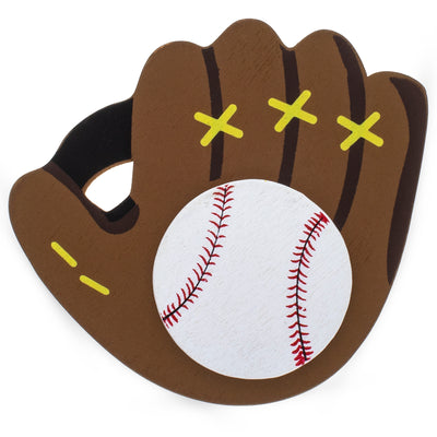 Painted Finished Wooden Baseball Glove Cutout DIY Craft 3.15 Inches by BestPysanky