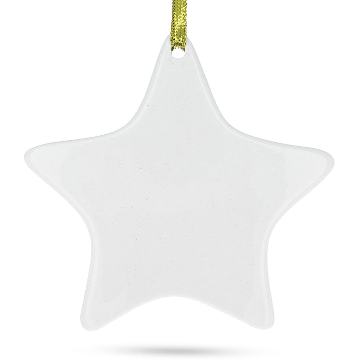 Star Porcelain Christmas Ornament 4.3 Inches by BestPysanky