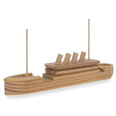 Unfinished Wooden Titanic Model Kit DIY Craft 7.25 Inches by BestPysanky