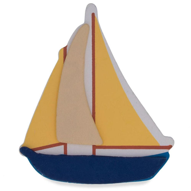 Wooden Hand Painted Sailboat Cut Out 4.5 Inches by BestPysanky
