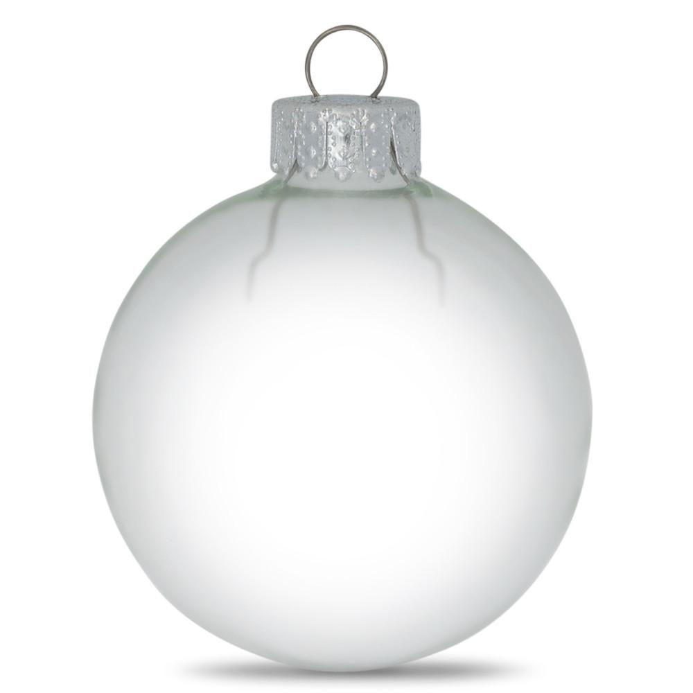 Set of 10 Clear Glass Ball Christmas Ornaments 2.36 Inches