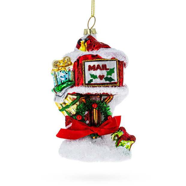 Santa Mailbox Glass Christmas Ornament by BestPysanky