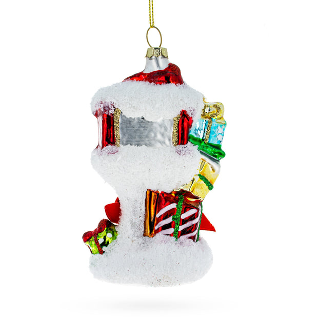 Buy Online Gift Shop Santa Mailbox Glass Christmas Ornament