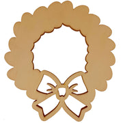 Unfinished Wooden Wreath Shape Cutout DIY Craft 4.75 Inches by BestPysanky