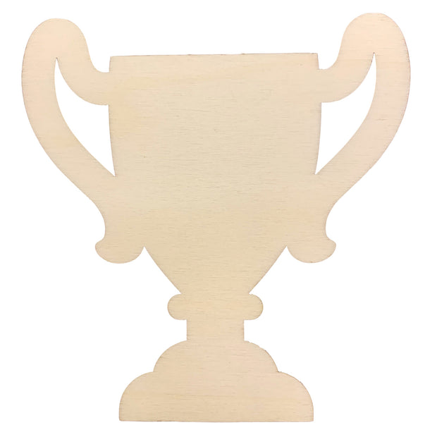 Unfinished Wooden Trophy Shape Cutout DIY Craft 4.5 Inches by BestPysanky