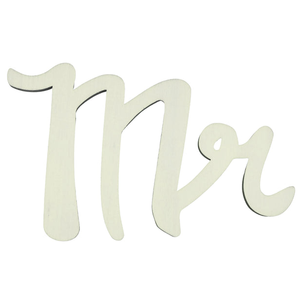 "Unfinished Wooden Word ""Mr"" Shape Cutout DIY Craft 6 Inches by BestPysanky"