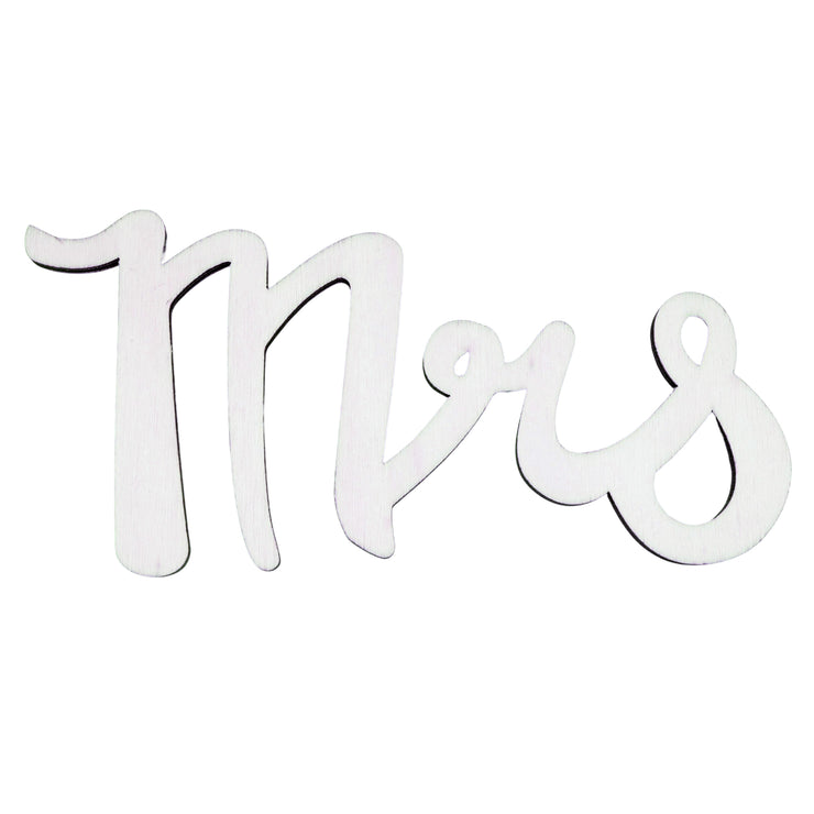 "Unfinished Wooden Word ""Mrs"" Shape Cutout DIY Craft 6 Inches by BestPysanky"
