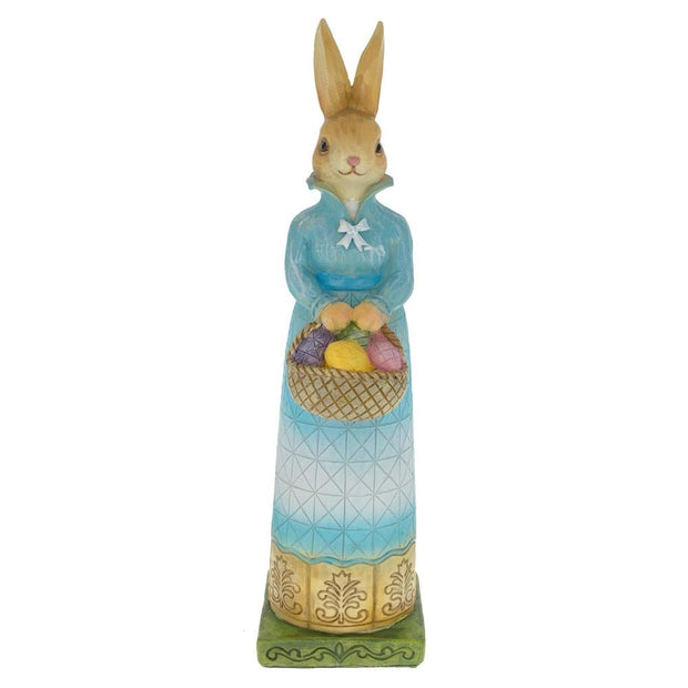 Bunny Mother with Easter Eggs Basket Figurine 11 Inches by BestPysanky