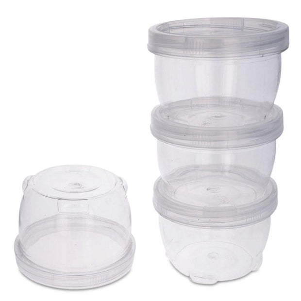 Set of 4 Lock It Tight Clear Plastic Lockable & Stackable Containers 2.5 Inches by BestPysanky