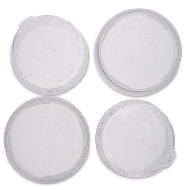 Set of 4 Lock It Tight Clear Plastic Lockable & Stackable Containers 2.5 Inches