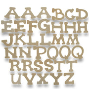 Set of 36 Miniature Unfinished Unpainted Wooden Blank Alphabet Letters 1.75 Inches by BestPysanky