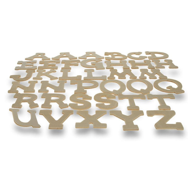 Set of 36 Unfinished Wooden Blank Alphabet Letters 1.75 Inches