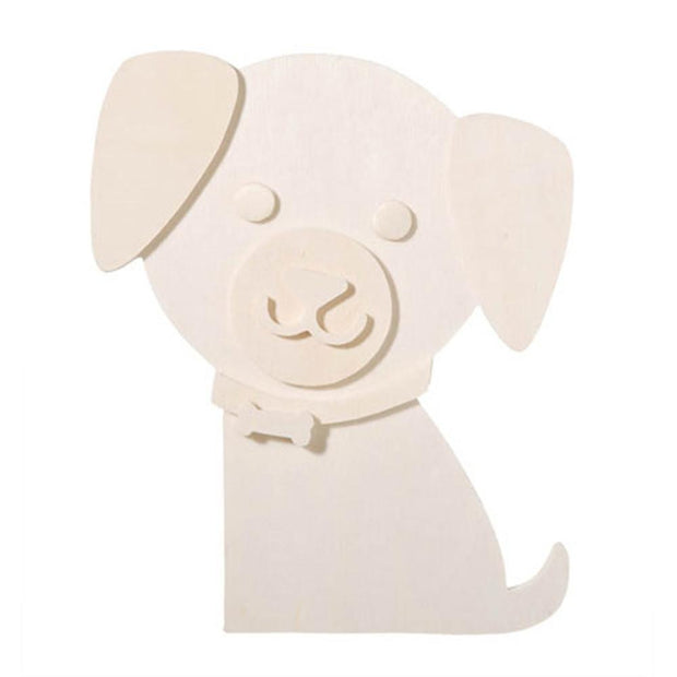 Unfinished Unpainted Blank Wooden Dog Cut Out 6 Inches by BestPysanky
