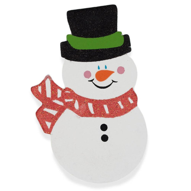 Snowman Painted Finished Wooden Shape Craft Cutout DIY 3D Plaque 4.75 Inches by BestPysanky
