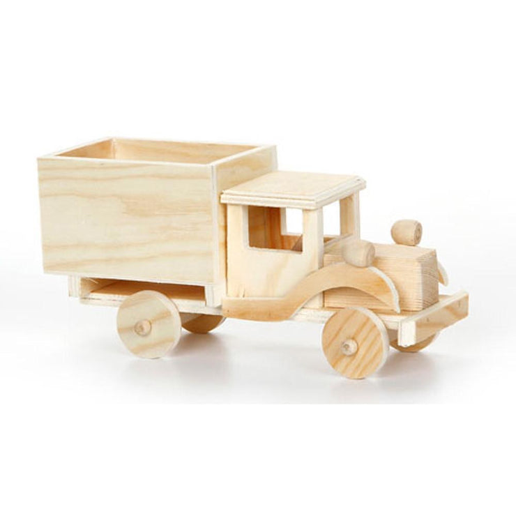 Unfinished Unpainted Wooden Toy Truck DIY Craft 4 Inches by BestPysanky