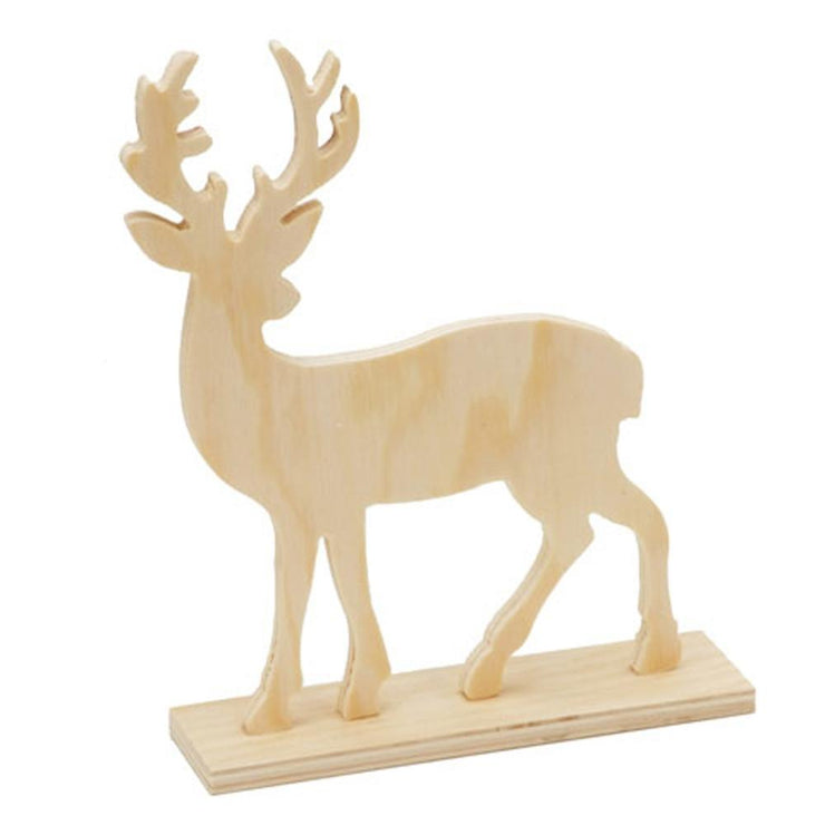 Unfinished Wooden Standing Deer Figurine DIY Craft Cutout 6 Inches by BestPysanky