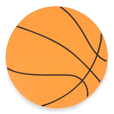Painted Finished Wooden Basketball Shape Cutout DIY Craft 5 Inches by BestPysanky