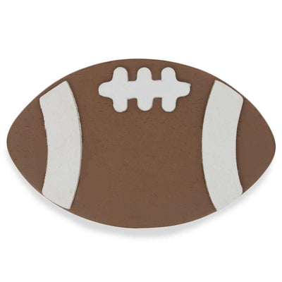 Painted Finished Wooden Football Shape Craft Cutout 4 Inches by BestPysanky