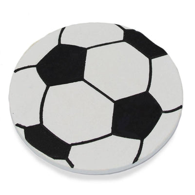 Finished Painted Wooden Soccer Ball Shape Cutout DIY Craft 3.25 Inches by BestPysanky