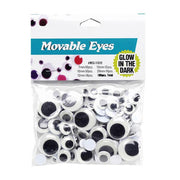 Set of 100 Glow in The Dark Self Adhesive Eyes by BestPysanky