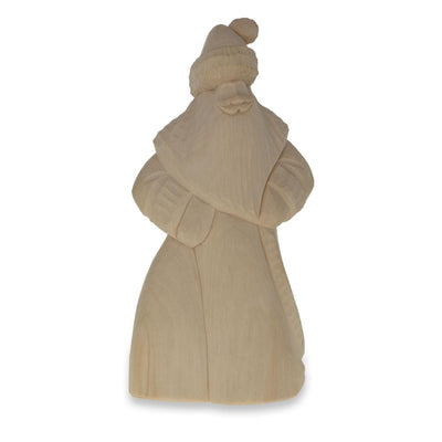 Hand Carved Unfinished Wooden Russian Ded Moroz (Santa) Figurine 8 Inches by BestPysanky