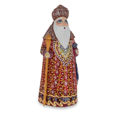Hand Carved Unfinished Wooden Russian Ded Moroz (Santa) Figurine 6.5 Inches by BestPysanky